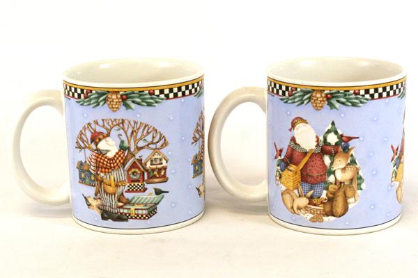 SwedeMom - Set of 2 Debbie Mumm Sakura Onieda Woodland Santa Genuine ...
