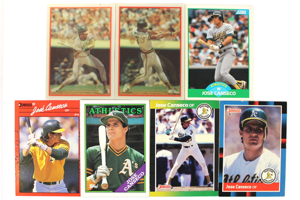 Swedemom Lot Of 7 Jose Canseco Oakland As Baseball Cards