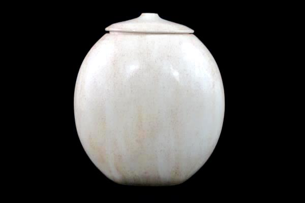Swedemom Handmade Art Pottery Vase Cat Tail Design Large Oval With