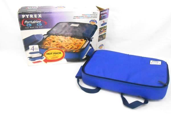 Pyrex Portable Casserole Carrying Travel Case Bag 13u201d X 9u201d Blue Insulted