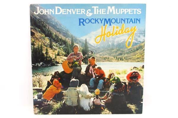 john denver rocky mountain christmas afl 4721 rca vinyl lp 1983 record muppets - John Denver Rocky Mountain Christmas