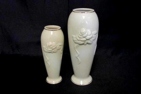 Swedemom 2 Lenox Ivory Rose Blossom 6 75 Tall Vase Raised