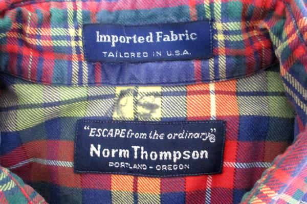 50175a14 Mens Vintage Hipster Button Shirt -Red Plaid Cotton Thick Sz L by Norm  Thompson. (click to enlarge ...
