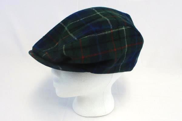 2224c38a861 Pendleton Vintage Newsboy CAP HAT Golf Cabbie Wool Blue Green Tartan Plaid  XL