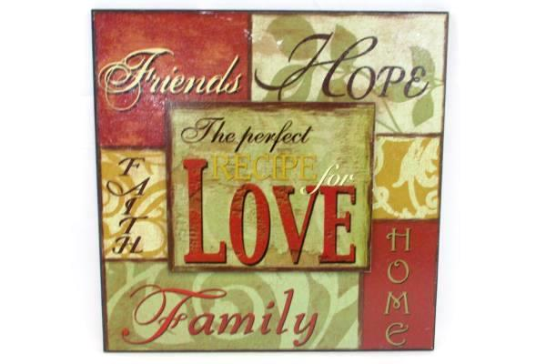 Attractive Love Plaque Wall Decor Image - Wall Art Design ...