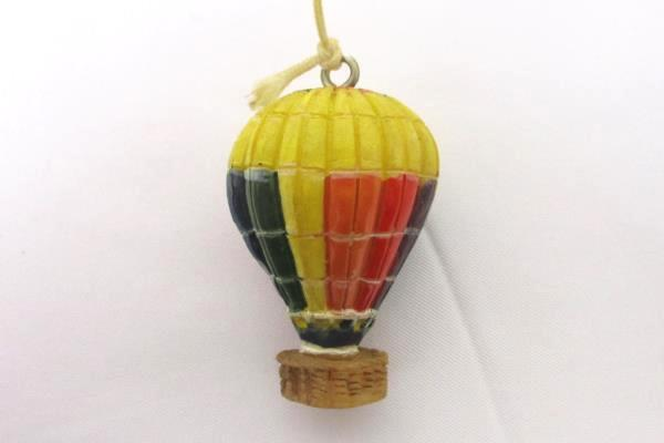 Swedemom Resin Hand Painted Hot Air Balloon Wind Chime Garden