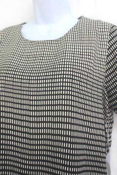 a0c0657f7c6 Forever 21 Womens Blouse Creme Black Short Sleeve Shirt Top Size M ~NEW  WITH TAG