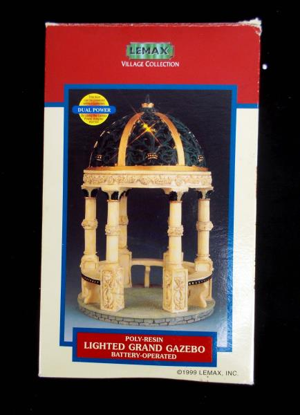 lemax christmas village collection lighted grand gazebo 55 poly resin 1999