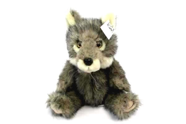 Swedemom 2 Plush Stuffed Animals Gray Wolf Nwt Sitting Fox