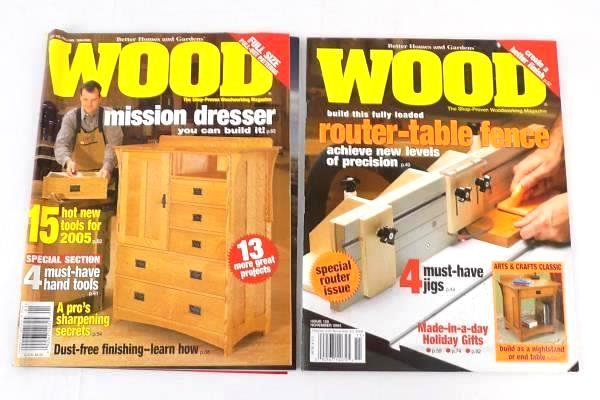 Perfect Better Homes And Gardens WOOD Magazine Lot Of 5 2004 PLUS Router Projects U0026  Tech