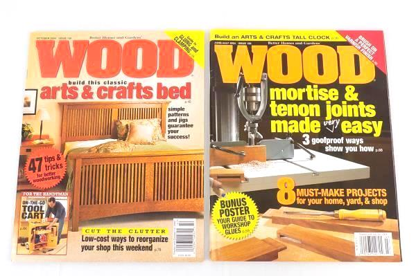 Better Homes And Gardens WOOD Magazine Lot Of 5 2004 PLUS Router Projects U0026  Tech