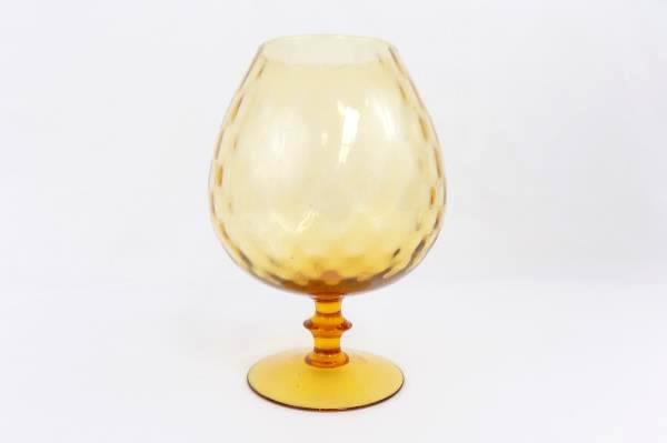 Swedemom Retro Large Amber Glass Fish Bowl Vase