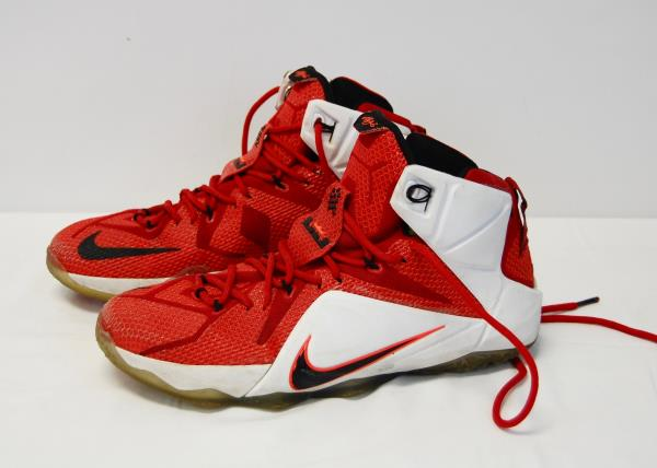 f9a082f44474e NIKE LEBRON XII 12 HEART OF A LION RED 684593-601 Basketball Shoes Men Size