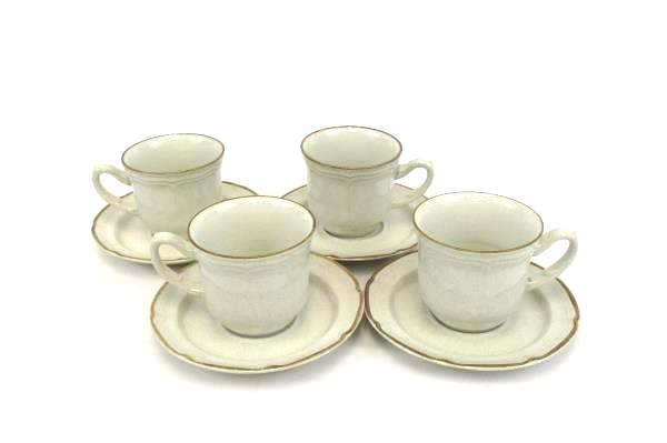 SwedeMom - Set of 4 Barogue Earthtone Brown Hearthside Stoneware ...