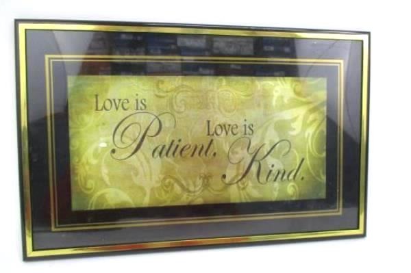 SwedeMom - Lot Of 3 Wall Decor Plaques Live Laugh Love Framed Wall Art