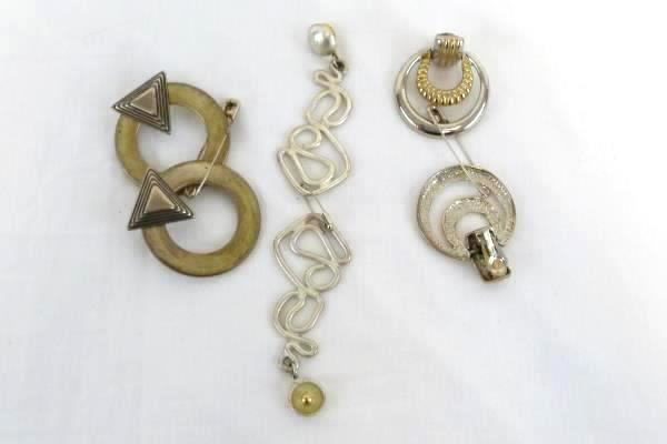 Lot of 8 COSTUME EARRINGS Mixed Jewelry Silver Gold Tone Gaudy Chunky 90s & SwedeMom - Lot of 8 COSTUME EARRINGS Mixed Jewelry Silver Gold Tone ...
