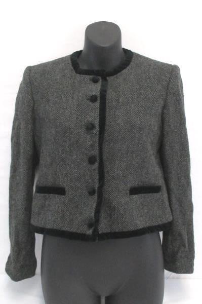 Swedemom Vintage Skirt Suit Evan Picone Wool Mulhair Blend Gray