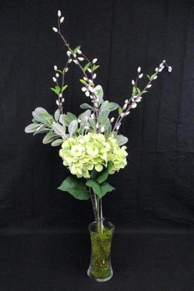 Swedemom 38 flowering willow branch hydrangea silk flower 38 flowering willow branch hydrangea silk flower arrangement in vase lime mightylinksfo