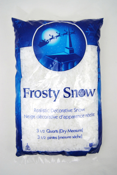 Quart bag of artificial frosty snow ebay