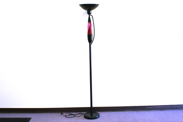 ... Torchiere Floor Lamp With Built In Motion Lava