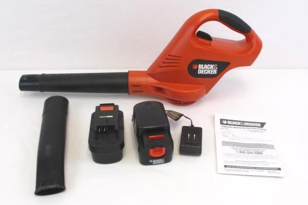 Black Amp Decker 18v Cordless Broom Leaf Blower W Battery