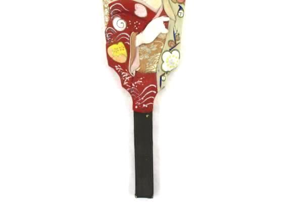 Vintage japanese princess hagoita wooden paddle fan geisha girls day decoration ebay - Japanese paddle fan ...