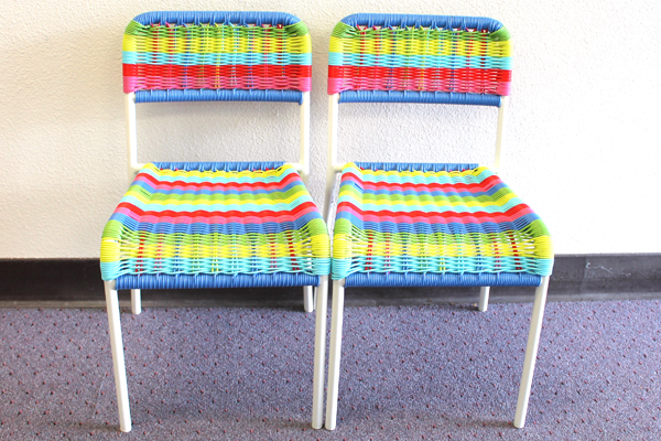 2 F 196 Rgglad Multi Colored Children S Chairs Ikea Woven