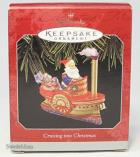 Hallmark Keepsake Handcrafted and Tin Ornament Cruising Into Christmas 1998