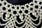 Chandelier Tiered Faux Pearl Costume Jewelry Necklace Vintage Piece Beautiful