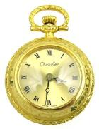 CHANDLER Swiss Mini Pocket WATCH PENDANT Gold Overlay