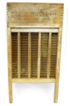 Blake McFall Co Vintage American Primitive Silver Queen Rustic Decor Washboard