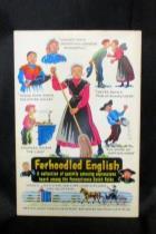Vintage 1964 Ferhoodled English Pennsylvania Dutch Collection Amusing Expression