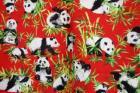 Handmade Panda Bear Vest Womens Large ~ Bamboo Red Black 2 Button