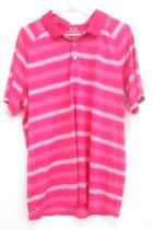 Oakley Shirt Lot: Regular Fit Polo Short Sleeve Striped Shirt Mens Size Large