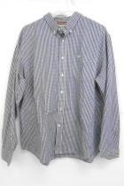 Dockers Dress Shirt Long Sleeve Button Down Front Blue Checkered Shirt Size XL