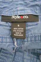 Style & Co Capri Cargo Pockets Blue Size 6