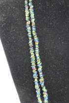 Vintage Carnival Glass Beaded Necklace 28 Inches Long Iridescent Multicolor