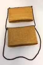 Tightly Woven Rattan Wicker Straw Nesting Box Basket Purse Shoulder Bag Small