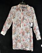 FASHION UNION Womens Ivory Floral Sheer Long Sleeve Tunic Size 6 NWT