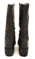 Casablanca Womens Mid Calf Brown Leather Low Wedge Boots Sz 8.5 ~MIZ MOOZ