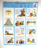 VTG Fabric Traditions 1996 Bible Story of Easter Book Fabric Quilt Panel 10pg