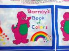 VTG Princess Fabrics 1999 Barneys Book of Colors Fabric Panel UNCUT 10 pg DIY