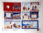 2004 Cranston VIP Yankee Doodle Songbook Fabric Book Panel UNCUT 10 pg