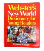 1989 WEBSTERS NEW WORLD DICTIONARY For Young Readers Maps Updated Edition