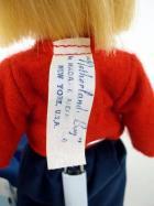 Vtg MADAME ALEXANDER 2 International Dolls w/ Stands 8 USA and Netherlands Boy