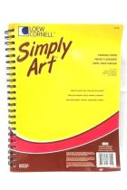Loew Cornell Simply Art Drawing Pad with Crayola Colored Pencils 50 count