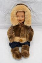 1988 Lake Shore Boy Doll Faux Fur Russian Outfit Winter Red Blue Pants