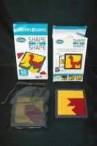 Shape by Shape Creative Pattern Game Think Fun ~ Set of Two