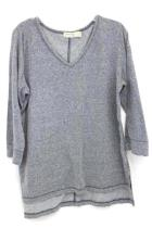 Faded Glory Size Large 12-14 Gray Grey Womens Long Sleeved Shirt