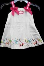 Rare Edition Pink & White Girls Birthday Dress Size 12 Months 100% Cotton